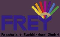 Frey Papeterie und Buchbinderei Logo